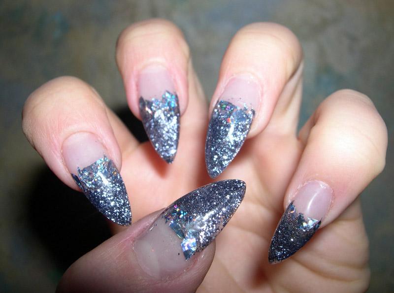Покраска ногтей переходом